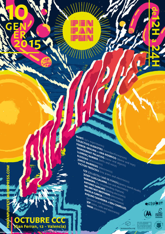 Cartel oficial del festival PinPanPun Collapse 2015